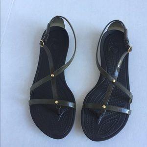 CROCS Women's olive green sandals. Size 10